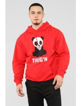 Thug'n Hoodie   Red by Fashion Nova