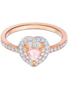 Two Tone Crystal Heart Ring by Swarovski