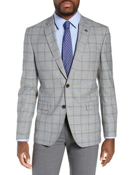 Jay Trim Fit Windowpane Wool Sport Coat by Ted Baker London