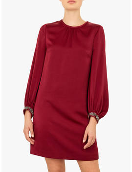 Ted Baker Joele Crepe Tunic Dress, Red Maroon by Ted Baker