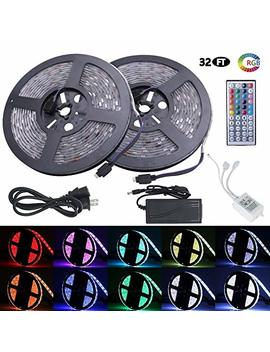 Led Strip Lights, Waterproof Flexible Rgb Led Strip Light Kit, Smd 5050 300leds With 44key Ir Controller And 12 V 5 A Power Supply For Bedroom Kitchen Home Decor Trucks Pools Parties Etc. 32.8ft(10m) by Eebuy