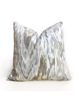 "Designer Abstract Ethnic Ikat Gray Brown Off White Cotton Print Pillow Cover, Fits 12x18 12x24 14x20 16x26 16"" 18"" 20"" 22"" 24"" Inch Inserts by Etsy"