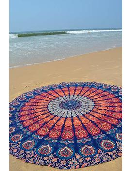 The Boho Street Branded Cotton Mandala Roundies, Beach Throw, Indian Mandala Tapestry, Yoga Mat, Picnic Mat,Table Throw by The Boho Street