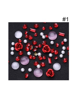 Sale 1 Box 3 D Rhinestones Diverse Diy Gems New Charming Mix Nail Art Decoration Rose Jewelry Gel Glitter Nail Art Decoration by Nicole Diary