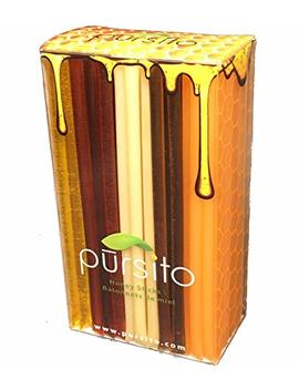 Favorite Flavors Honey Sticks Gift Box Variety Pack 100 Count (20 Ea. Flavor Lemon, Peach, Pina Colada, Raspberry & Wildflower) Pursito Brand Honeystix by Pursito