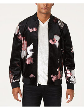I.N.C. Men's Abstract Floral Bomber Jacket, Created For Macy's by Inc International Concepts