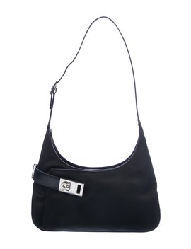Leather Trimmed Gancini Hobo by Salvatore Ferragamo