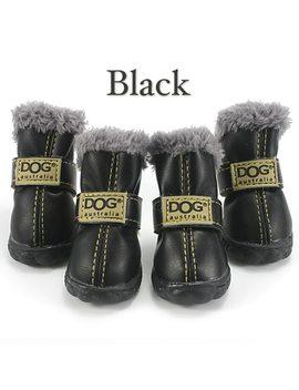 Pet Dog Shoes Winter Super Warm 4pcs/Set Dog's Boots Cotton Anti Slip Xs 2 Xl Shoes For Small Pet Product Chi Hua Hua Waterproof by Adidog