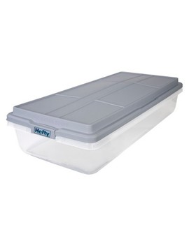 63qt Hi Rise Underbed Clear Storage Box   Hefty by Hefty