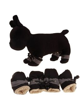 4pcs Winter Warm Pet Dog Shoes Anti Slip Rain Snow Boots Footwear Thick Warm For Small Cats Dogs Puppy Dog Socks Booties by Bebo Dog