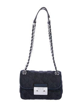 Sloan Denim Chain Link Shoulder Bag by Michael Kors