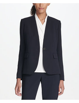 Collarless One Button Jacket, Created For Macy's by Dkny