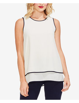 Piped Tiered Hem Top by Vince Camuto