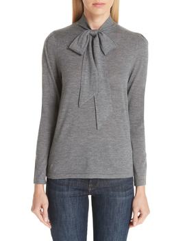 Essentials Tie Neck Cashmere Sweater by Co
