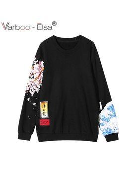 Varboo Elsa Casual Women Hoodies Japan Style Sweatshirt Thicken Harajuku Boyfriend Wind Cherry Print Long Sleeve Pullovers by Varboo Elsa