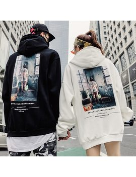 Europeand The United States 2018 New Velvet And Thick Hooded Hoodies Women's Baggy Hip Hop Couple Hoodies by Bumpybeast