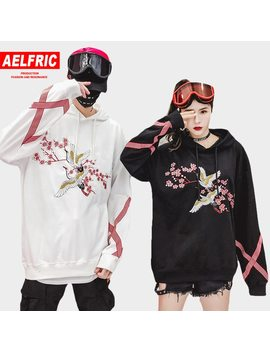 Aelfric Flower Animal Embroidery Pullover Hoodie Men Chinese Style Casual Hoodies Sweatshirts Fashion Hip Hop Streetwear Qa06 by Aelfric