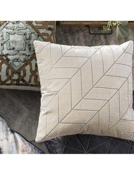 Mercer41 Novak Cut Velvet Chevron Square Pillow & Reviews by Mercer41
