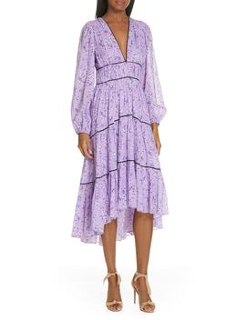 Joan Floral Print Cotton & Silk Midi Dress by Ulla Johnson