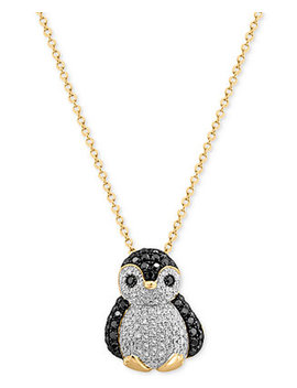 Effy® Diamond Penguin Pendant Necklace (5/8 Ct. T.W.) In 14k Gold by Effy Collection