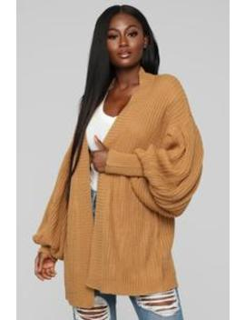 Warm Feelings Cardigan   Camel by Fashion Nova