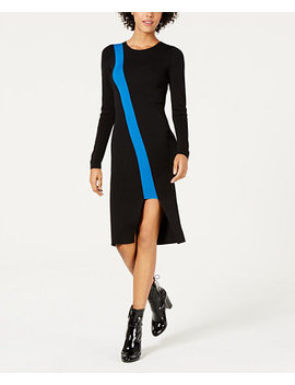 Colorblocked Cutout Sweater Dress, Created For Macy's by Bar Iii
