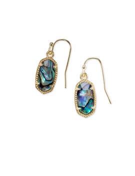 Lee Gold Drop Earrings In Abalone Shell by Kendra Scott
