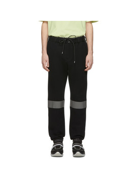 Black Reflective Sponge Lounge Pants by Sacai