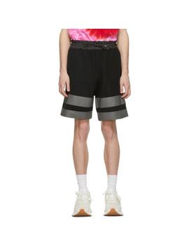 Black Sponge Sweat Shorts by Sacai