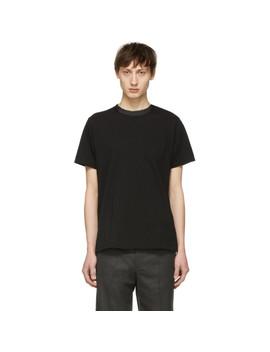 Black Button Collar T Shirt by Sacai