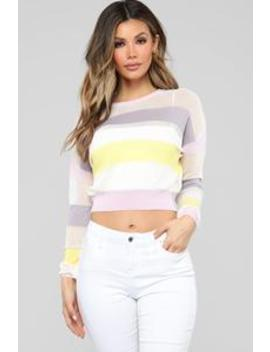 Purple Haze Striped Sweater   Multi by Fashion Nova