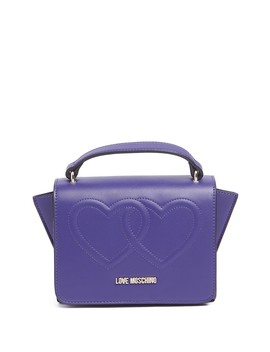 Embossed Hearts Satchel Bag by Love Moschino