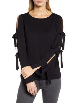 Bow Sleeve Sweater by Cece