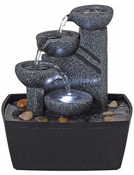 "Rowell 7 1/2"" High Tabletop Fountain With Light by John Timberland"