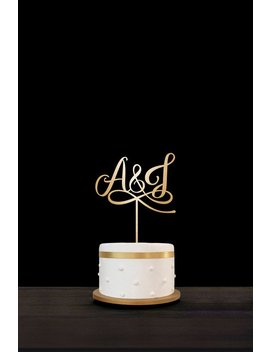 Customized Wedding Cake Topper Initials Personalized Cake Topper For Wedding,Custom Personalized Wedding Cake Topper, Monogram Cake Topper27 by Etsy