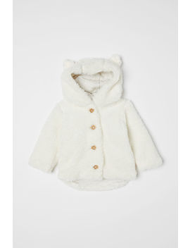Hooded Pile Jacket by H&M