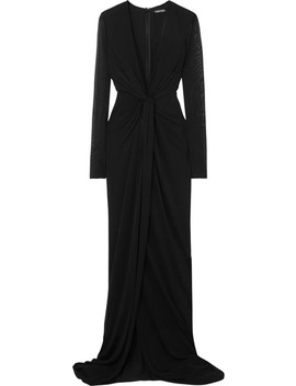 Twist Front Stretch Jersey Gown by Tom Ford