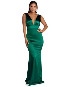 Marianna Formal Satin Dress by Windsor