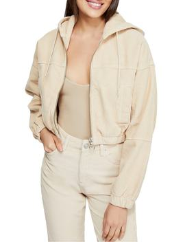 Urban Outfitters Corduroy Crop Hooded Jacket by Bdg
