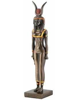 Egyptian Bronze Isis Collectible Statue by Summit By White Mountain