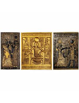 Design Toscano Egyptian Temple Stele Plaque: Tutankhamen, Isis, Horus by Design Toscano