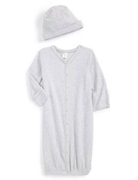 Convertible Cotton Gown & Hat by Nordstrom Baby