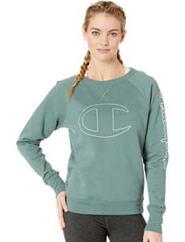 Powerblend® Fleece Boyfriend Crew   Graphic Y07417 by Champion