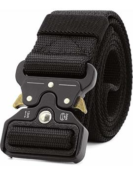 "Tactical Belt For Men With Quick Release Metal Buckle   1 Ply 1.5"" Nylon Heavy Duty Everyday Belt by Chessun"