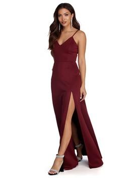 Avianna Formal High Slit Dress by Windsor