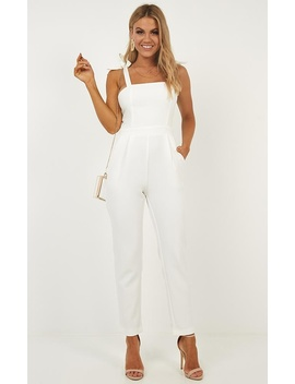 Caught Out Jumpsuit In White by Showpo Fashion