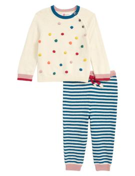 Pompom Knit Sweater & Pants Set by Mini Boden