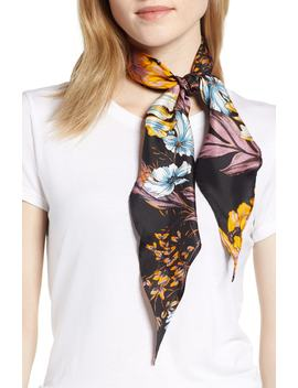 Floral Print Silk Kite Scarf by Halogen®