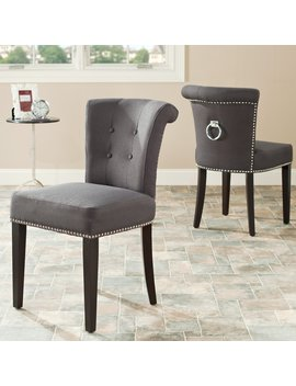 Safavieh Ellie Ring Dining Chairs   Gray   Set Of 2 by Safavieh