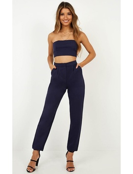 Meeting You Two Piece Set In Navy by Showpo Fashion